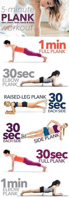 Plank - 5 minutes workout !