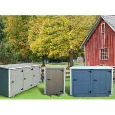 Keep your trashcan hidden from sight but still easy to access with the Bearicuda Aspen Trash Enclosure . Beautifully designed with a painted exterior. Garbage Shed, Garbage Can, 12x8 Shed, Corner Sheds, Wood Grain Texture, White Cedar, Tool Sheds, Trash Bins, Shed Storage