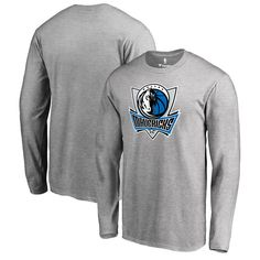 Dallas Mavericks Team Essential Long Sleeve T-Shirt - Heather Gray - $29.99