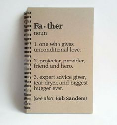 Father definition 5x8 custom Journal by TheJournalCompany on Etsy