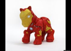 My Little #IronMan. Artist takes ponies and creates pop-culture look alikes. #creepybutcool