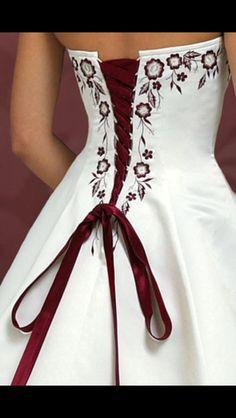 Alyssa's dress. Back. Close up.