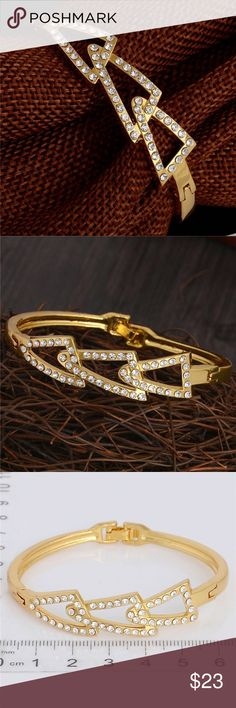 Black Friday Price 18k Gold Plated Bangle 18k Gold Plated Bangle. Jewelry Bracelets