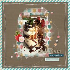 Sweet Treats #All Around 4x6 Borders Good to Eat #designerdigitals #digital scrapbook pages