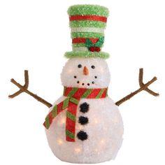 RAZ Snowdoodles 25.5 Lighted Snowman Decoration