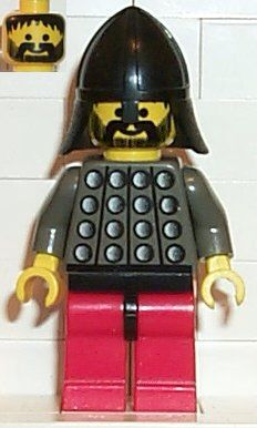 CAS029 FRIGHT KNIGHT - Knight 3, red legs with black hips, black neck-protector. Year 1997