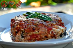 Eggplant Lasagna with Meat Sauce - Low Carb, Gluten Free   Peace Love and Low Carb