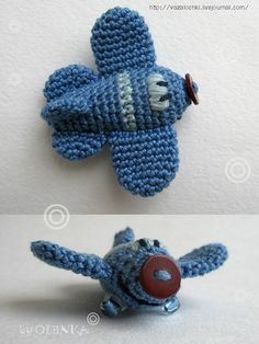 Crochet plane adorable, russian site no pattern:(