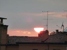 tramonto tra le nubi