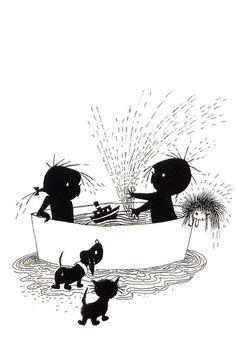 B৲( °৺° )৴K Jip en Janneke Holland, Cartoon Drawings, Cute Drawings, Dachshund, Fun Illustration, Printable Pictures, Silhouette, Held, Art Sketchbook