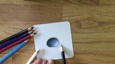 How to draw a gemstone - Edelstein zeichnen mit Buntstift (blau)