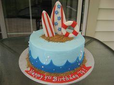 surf+cake   Surfing cake — Birthday Cakes