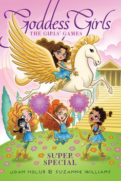 """Another take on the Athena Iliana adores. Maybe the invites can look like a scroll, and be headed with the building top of Mount Olympus Academy? We'll call them the """"Greek God Games"""" instead of the Girl Games."""