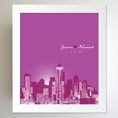 Personalized Anniversary Gift Seattle by YouandYoursPrints on Etsy, $26.00