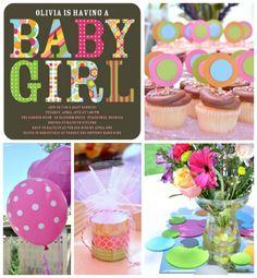 Cute Tiny Prints Baby Shower Invitation + Party! #baby #shower #invitations