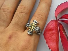 Celta anillo del Signet de Men.Celtic Ring.Celtic