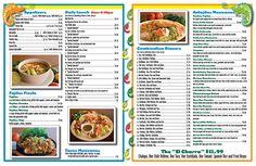 Inside of Menu designed for El Charro Mexican Restaurant
