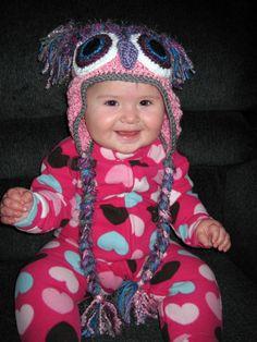 Who? hue? Crochet Owl Hat, Hue, Captain Hat, Fashion, Moda, Fashion Styles, Fashion Illustrations