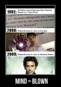 mind blown iron man funny
