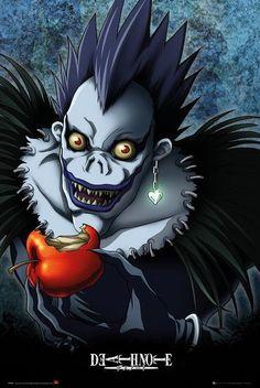 Death Note Ryuk- my favorite shinigami! Death Note L, Death Note Quotes, Death Note Anime, Shinigami, Manga Anime, Otaku Anime, Dead Note, Image Manga, Death Note