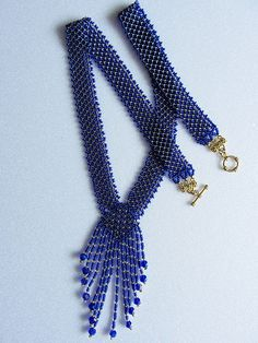 Necklace Resplendent ultramarine Long Necklace Handmade