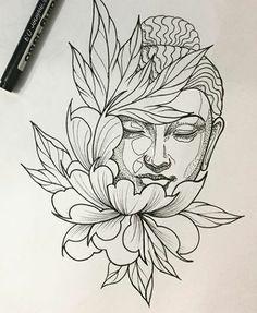 #tatuagem #budismo #buda #flores #peônias