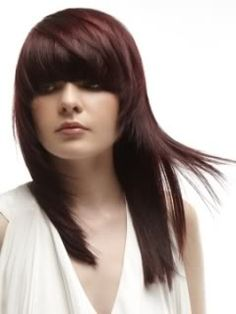 Hairstyles 2013 long hair with bangs, love the color!