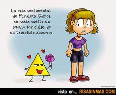 Los problemas de un triángulo amoroso.