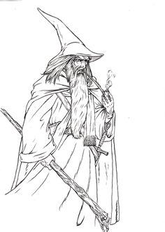 gandalf the gray coloring pages - photo#12