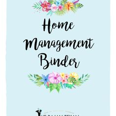 Want to have an organized home? Tired of trying to search of information and want everything in one spot? This Home Management Binder will help you get and keep your home and your life organized! This is an downloadable printable so you can reprint as many times or as many pages as you would like, simply punch holes and put in a binder.