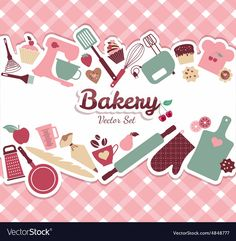 Illustration about Bakery and sweet illustration. Illustration of baguette, frame, retro - 46987704 Baking Logo Design, Cake Logo Design, Logo Doce, Watermark Ideas, Food Art Painting, Pink Sweets, Valentines Sweets, Cake Illustration, Logo Cookies
