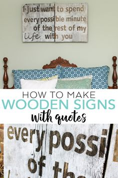 Learn how to make wooden signs with quotes using your Cricut machine! A great way to make rustic art for your farmhouse style home! Wood Kitchen Signs, Kitchen Wall Quotes, Kitchen Decor, Bathroom Quotes, Homemade Wall Decorations, Diy Wall Decor, Room Decorations, Wooden Signs With Quotes, Wood Signs