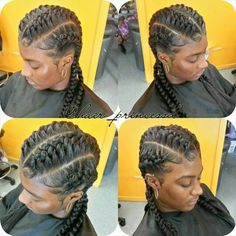 ... Under braid hair styles on Pinterest Box braids, Upside down braid