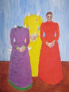 """My version of Munch's """"Inger i lilla og svart"""""""