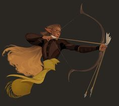 Trying out some new rendering styles. I think this is actually the first time I've drawn an elf doing archery.