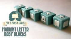A video on how to make fondant baby blocks / christening blocks with letters on for your cakes. You could also use flower paste, mexican paste, sugar paste o...