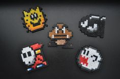 Nintendo Super Mario Perler Bead Magnet Set by N3rdAl3rtCrafts