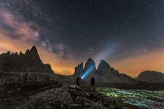 Explorando las estrellas desde el Alto Adigio, #Italia (foto de Daniele Boffelli)