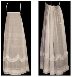 Simple Regency petticoat (+pattern) | Atelier Nostalgia