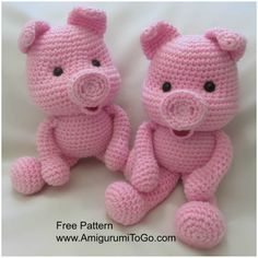 Mesmerizing Crochet an Amigurumi Rabbit Ideas. Lovely Crochet an Amigurumi Rabbit Ideas. Crochet Pig, Crochet Mignon, Crochet Patterns Amigurumi, Cute Crochet, Crochet For Kids, Crochet Animals, Crochet Crafts, Crochet Dolls, Crochet Projects