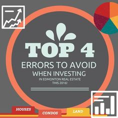 TOP 4 ERRORS TO AVOID WHEN INVESTING IN EDMONTON REAL ESTATE THIS 2016! http://mvnt.us/m298728  CBCNews published an article yesterday entitled: Edmonton unprepared for coming real-estate crash author says.  Since the talk of the town is on the possible housing crash we at Team Leading Edge thought of going against the tide and compiled the top errors that Edmontonians should avoid if and when they decide to invest in the real estate industry.  #Edmontonrealestateinvestments…