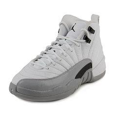 Jordan Kid's Air 12 Retro GG, WHITE/BLACK-WOLF GREY, Youth Size 6 Air Jordan 12 Retro, Kids Jordans, Nike Shoes, Wolf, Youth, Grey, Sneakers, Black, Fashion