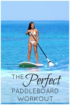 Even if you've never thought about paddle boarding or done it, you have to check out this workout! What a cool and fun way to get some exercise.