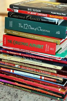 Christmas books.  and other traditions.  Mel's Kitchen Cafe.