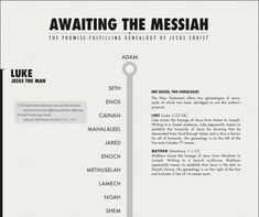 """Nice, clean genealogy of Jesus...part of a really good """"visual theology"""" series."""