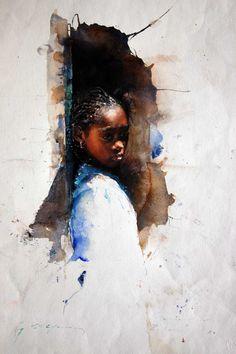 Stephen Scott Young. Watercolor.