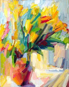 orange lilies by Lena Levin