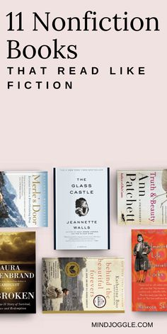 If you love fiction books but want to read more nonfiction, check out this list from Mind Joggle. These nonfiction books read like the best novels and will help you reach your nonfiction reading goal or challenge. #books #nonfiction #fiction #booklist #readinglist #readingchallenge Best Non Fiction Books, Best Books To Read, Good Books, Ya Books, Reading Goals, Reading Challenge, Reading Lists, Book Challenge, Literary Nonfiction