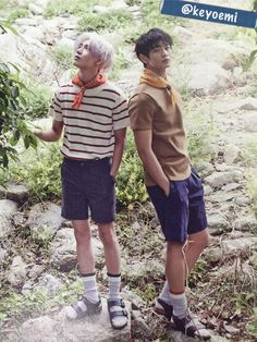 2min SHINee Taemin and Minho - The Celebrity Magazine June Issue SOCKS WITH SANDALS, SOCKS WITH SANDALS!