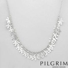 PILGRIM - Silver Base Metal Flower Necklace